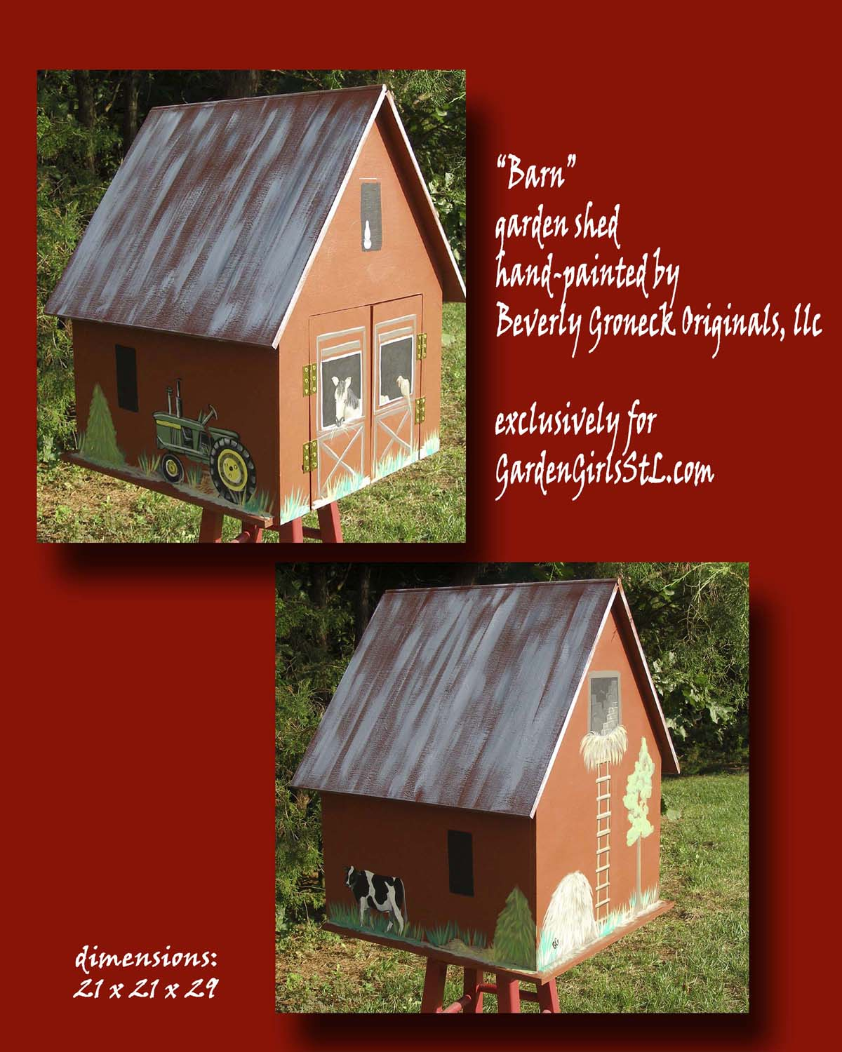 "Garden Girls, ""Barn"" garden shed"